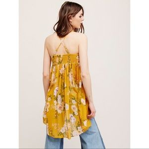 Free People mirage floral Babydoll tunic blouse